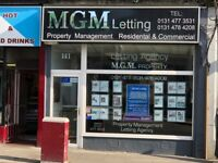 SHOP TO RENT LET VERY BUSY HIGH FOOTFALL - 141 DALRY ROAD EDINBURGH - MAY BE SUITABLE FOR OFFICE