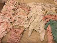 Baby girl bundle sleep and day suits 0-3months