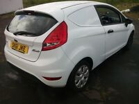 ford fiesta econetic van tdci 1.6 turbo diesel 2011 61 plate white unlettered 1 owner from