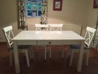 NEXT Table and 6 x IKEA Chairs