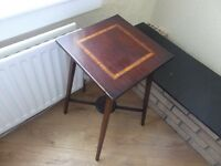 edwardian fully inlaid small table