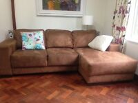 3 seater sofa with leg rest. Price reduced. £75.00