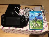 Nintendo Wii U + Zelda Breath of Wild (inc 11+ months of warranty)