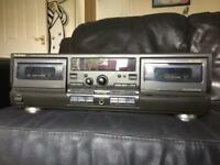 Technics dual tape player - collection only