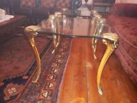 Glass coffee tables (x2)