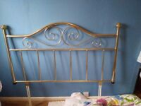 Double bed mattress and head board and various curtains 90/90 drop