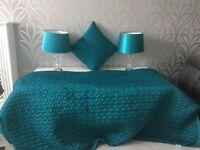 Bedroom Set in lovely Teal colour.