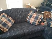 Couch, love seat, chair.