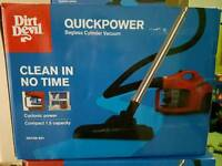 Dirtdevil quickpower bagless vacuum cleaner and steam mop