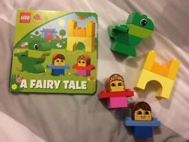 Duplo Fairy Tale book and bricks.