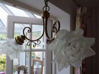 Vintage Light Fitting - Florentine Style.