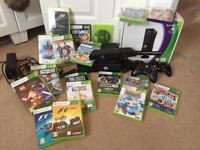Xbox 360 with Kinect plus 3 I wireless controllers & 19 games