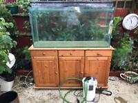4ft fish tank full set up External filter Heater Light Stand