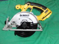 DeWalt DC930 18 volt circular saw
