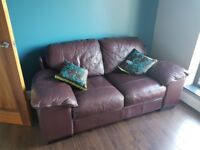 Warrenpoint area - 2 Leather Sofa's Brown - £250 for both. Like new. Call Brian on 07756914082