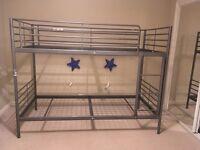 IKEA single bunk beds silver