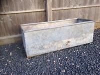 Galvanised water / flower planting trough