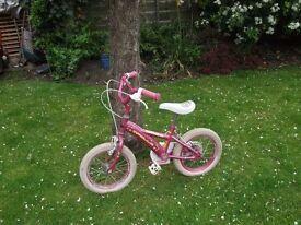 "Girl's Pink Apollo Daisy Chain 14"" Wheels"