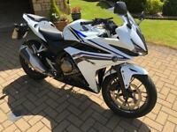2016 Honda CBR500R CBR500 white - FSH - excellent condition