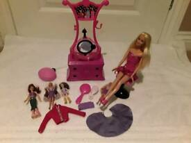 Barbie hair dressing salon including barbie & accessories