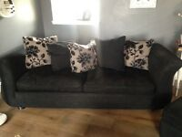 X4 seater and a x3 seater sofa for sale . Very comfy , used but in good condition
