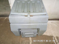 Plastic bunker with slight damage to lid