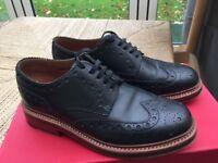 Mens Grenson Archie Brogue, Black, size 6, £50.00