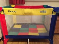 Graco Travel Cot with bag.