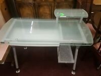 lovely glass computer desk for sale