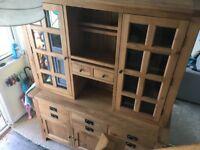 Large Dresser Rustic Oak Display Cabinet