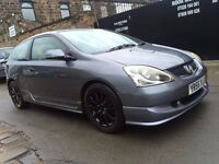2005 (55) HONDA CIVIC SPORT 1.6 I-VTEC - TYPE R REPLICA/LOOKALIKE - GUN METAL GREY- BARGAIN