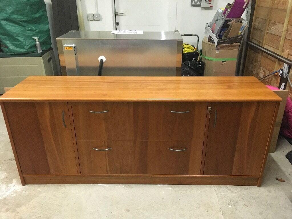 Credenza Perth : Filing cabinet credenza in cheery wood veneer perth