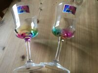 2 marks and spencer plastic wine glasses.....NEW