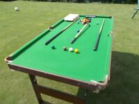 Snooker/Pool table and accessories