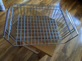Silver under shelf wire baskets