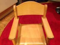 Gorgeous solid wood children's chair