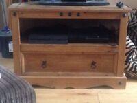 Corona wooden tv stand