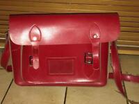 Red satchel