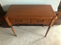 Small hall/living room table with 2 drawers