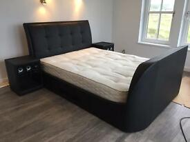 Top of the range king size TV bed