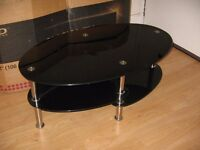 GLASS TV TABLE OR COFFEE TABLE