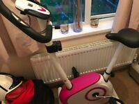 Nearly new exercise bike