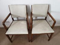 Oak Chairs x 2
