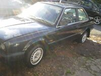 BMW E30 COUPE 316I 1990 BLACK BREAKING FOR PARTS