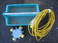 110 volt extension lead, splitter and tool caddy