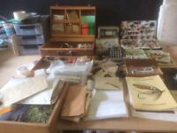 fly/sea fishing equipment lots of flys, rods reels and everything for the fly tying guru! a must see