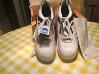 White steel toe cap safety trainers size 10 brand new