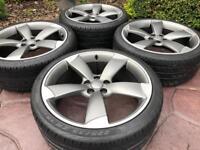 Genuine Audi A1 A2 S Line Rotor Alloy wheels & Pirelli tyres 5x100 VW Golf MK4