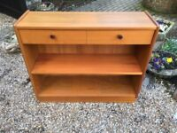 Side Hall Table with 2 Draws and Shelf (Nathan Furniture)