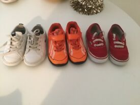 Little boys trainers size 7